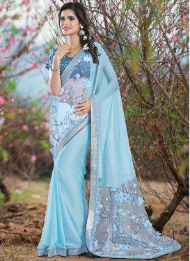 Refreshing Sequins Work Designer Saree