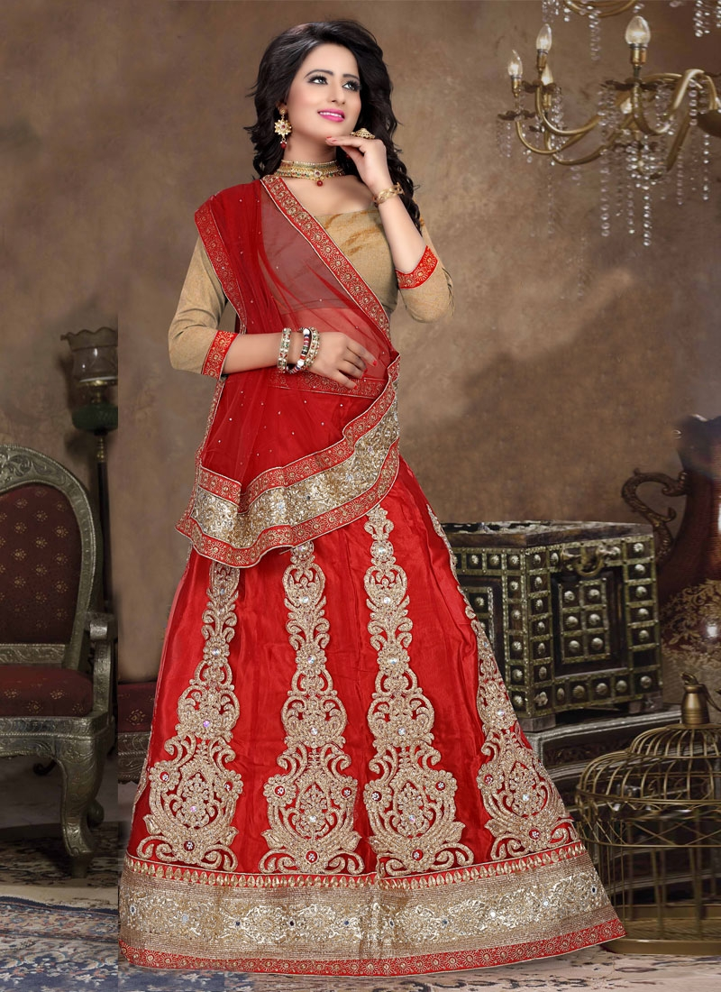 Regal Booti And Stone Work Bridal Lehenga Choli