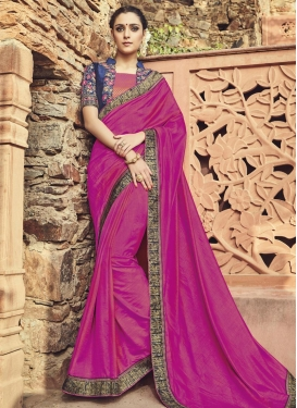 Regal  Embroidered Work Art Silk Classic Designer Saree For Ceremonial