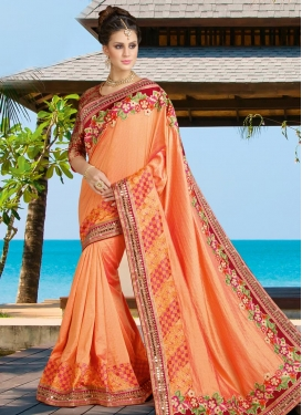 Regal Lace Work  Silk Classic Saree