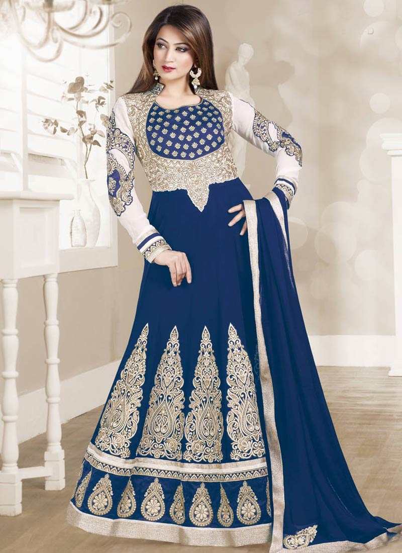 Regal Resham And Booti Work Floor Length Anarkali Salwar Suit