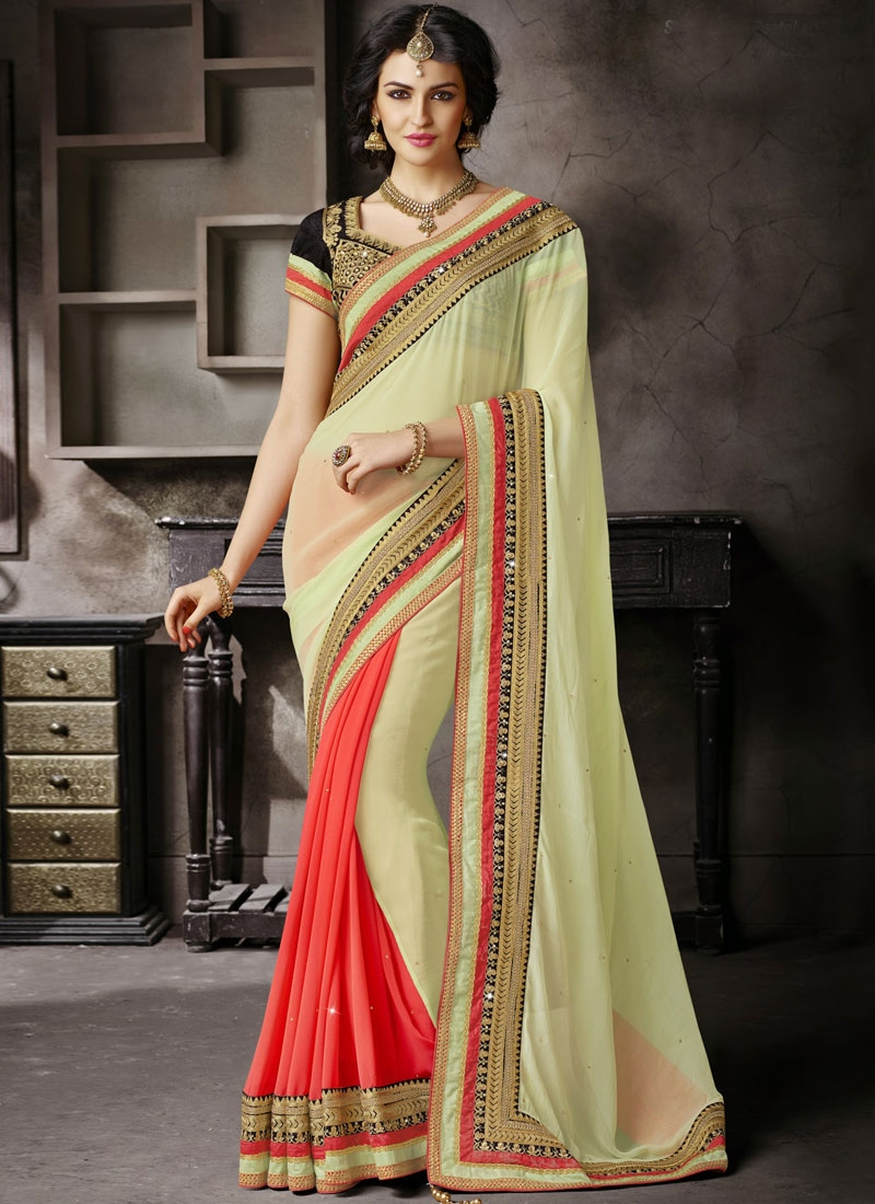 Regal Resham And Lace Enhanced Designer Saree