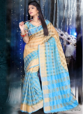 Remarkable Cotton Light Blue Color Casual Saree