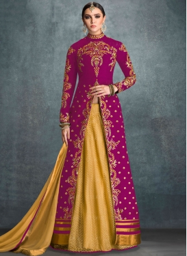 Remarkable Embroidered Work Banglori Silk Trendy Kameez Style Lehenga Choli