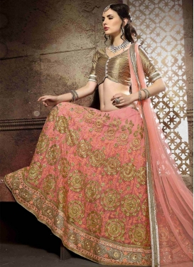 Remarkable Embroidery Work Net Wedding Lehenga Choli