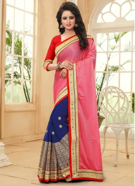Remarkable  Faux Georgette Half N Half Designer Saree