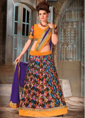 Remarkable Lace And Resham Work Party Wear Lehenga Choli