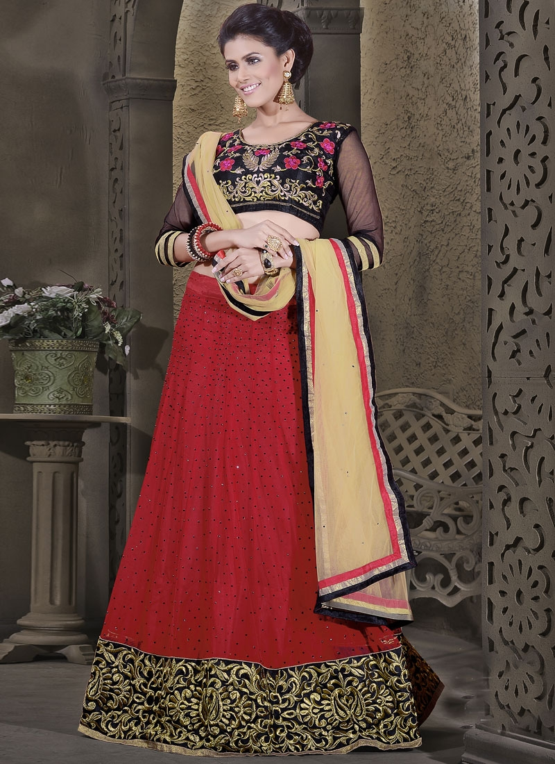 Remarkable Lace And Stone Work Party Wear Lehenga Choli