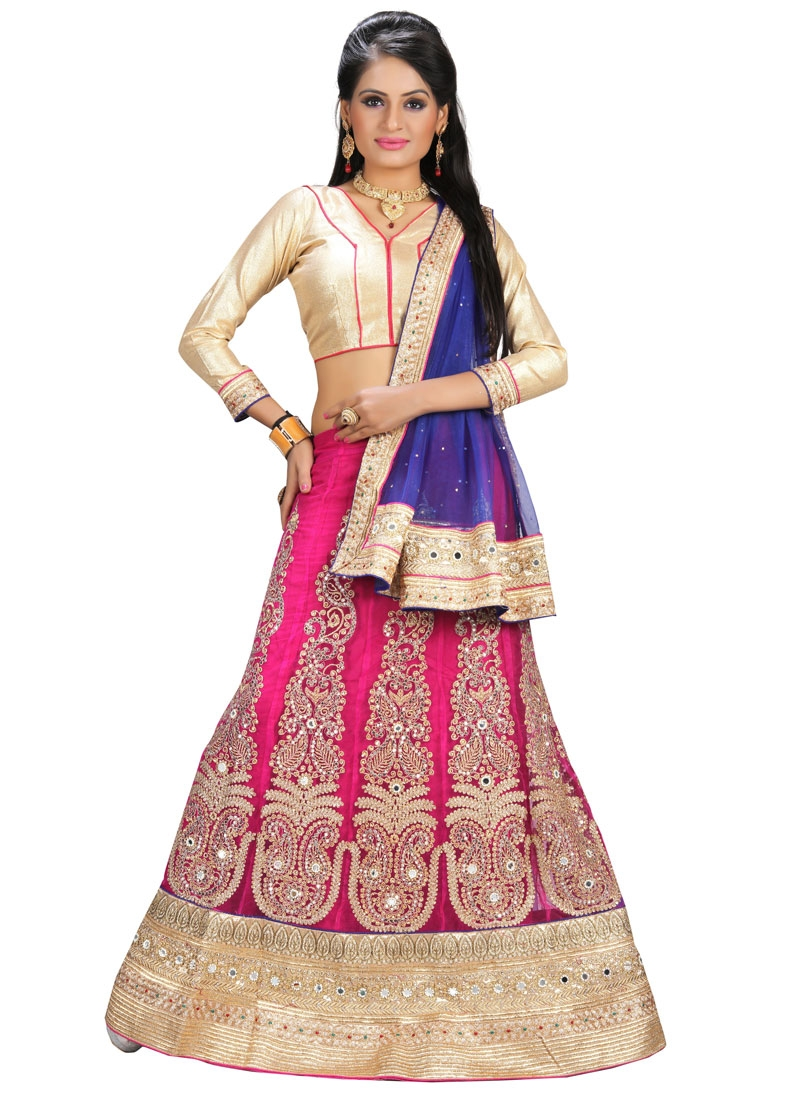 Remarkable Mirror And Beads Work Wedding Lehenga Choli