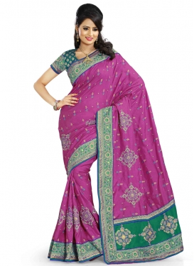 Remarkable Resham And Booti Work Designer Saree
