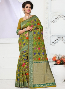 Renowned Banarasi Silk Contemporary Style Saree