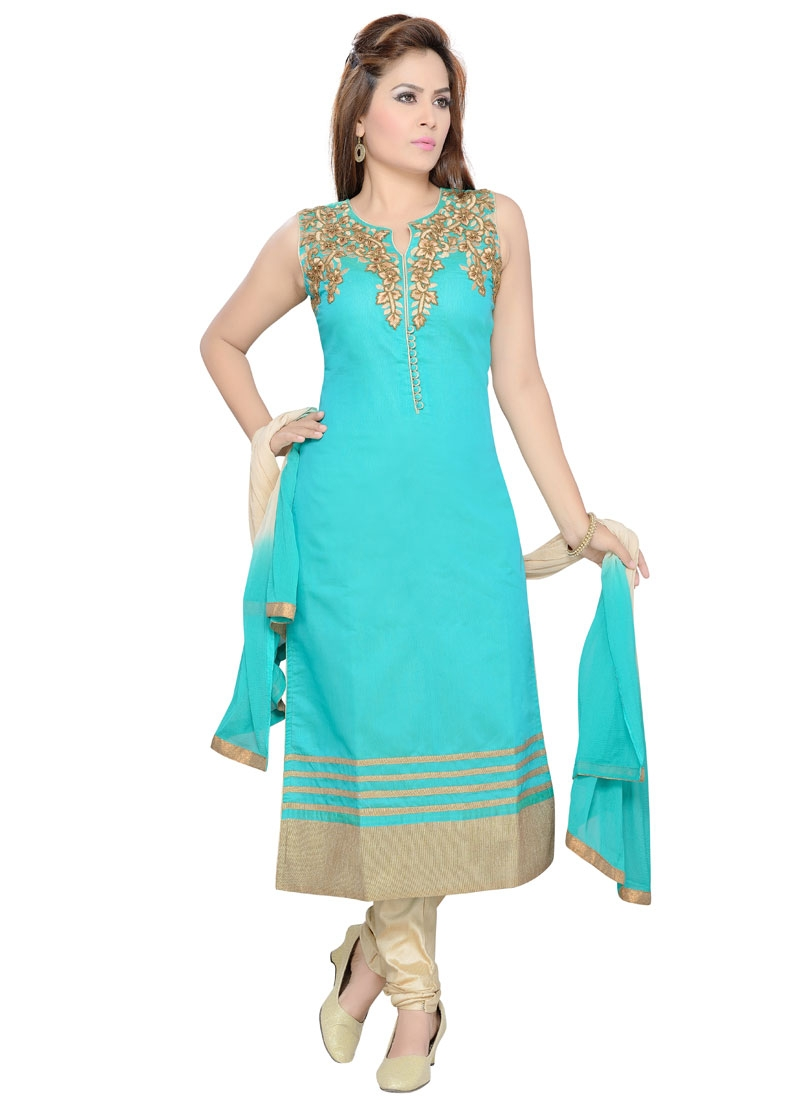 Renowned Beads Work Party Wear Readymade Salwar Kameez