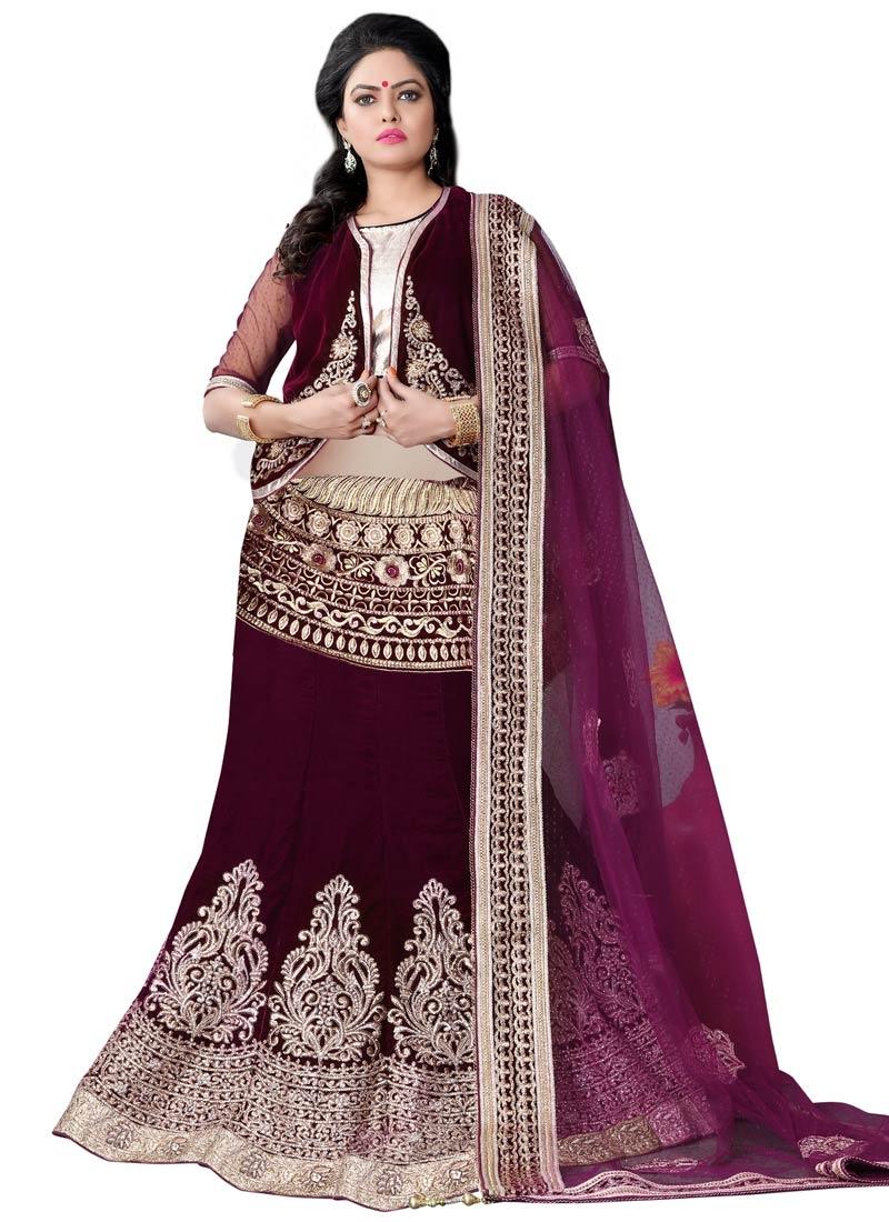 Renowned Booti Work Jacket Style Bridal Lehenga Choli