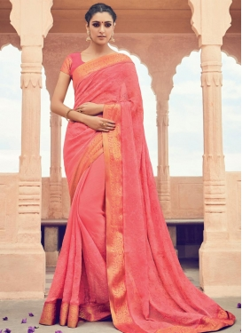 Renowned  Chicken Work Contemporary Style Saree