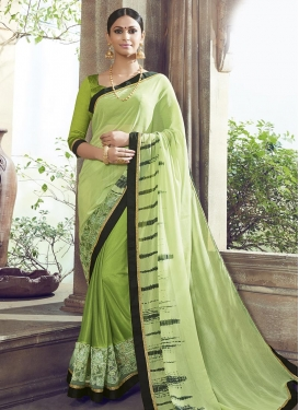 Renowned Digital Print Work Classic Saree