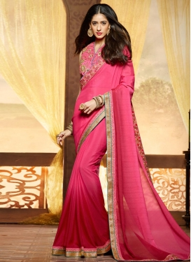 Renowned Embroidered Work Classic Designer Saree
