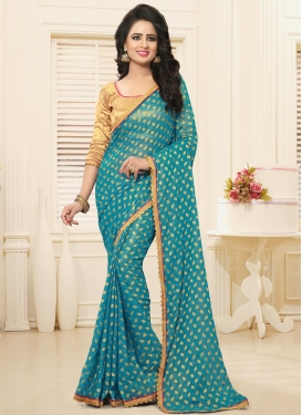 Renowned Lace Work Traditional Saree