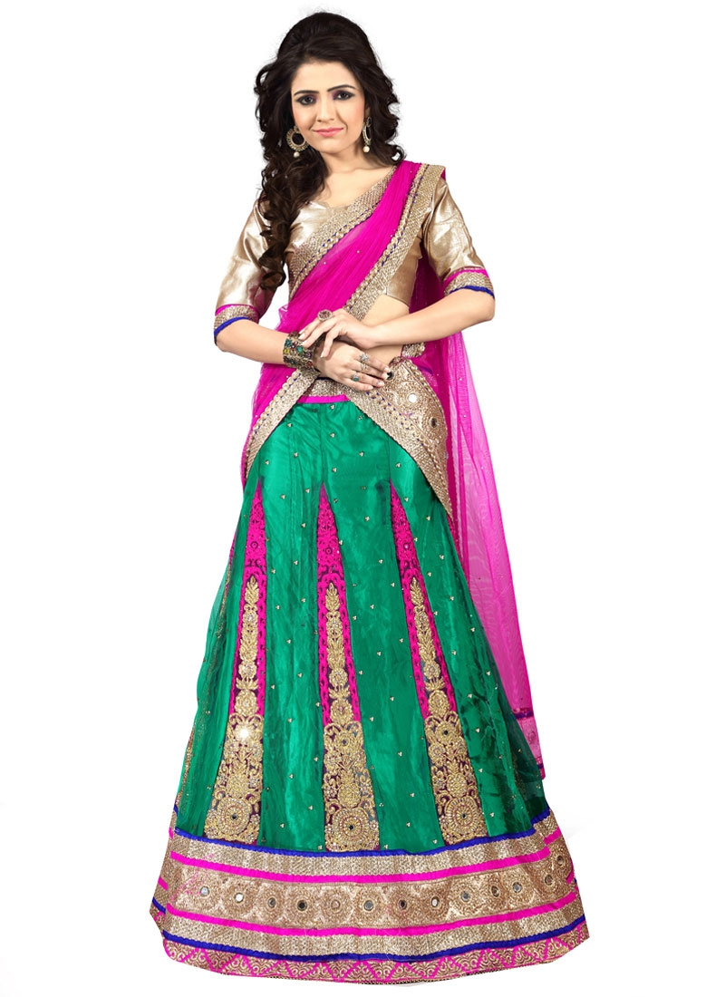 Renowned Mirror Work Designer Lehenga Choli