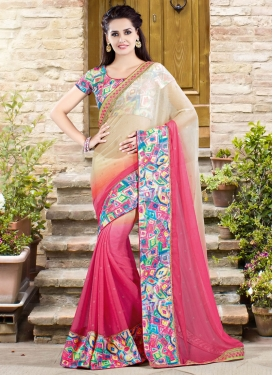 Renowned Stone And Sequins Work Designer Saree