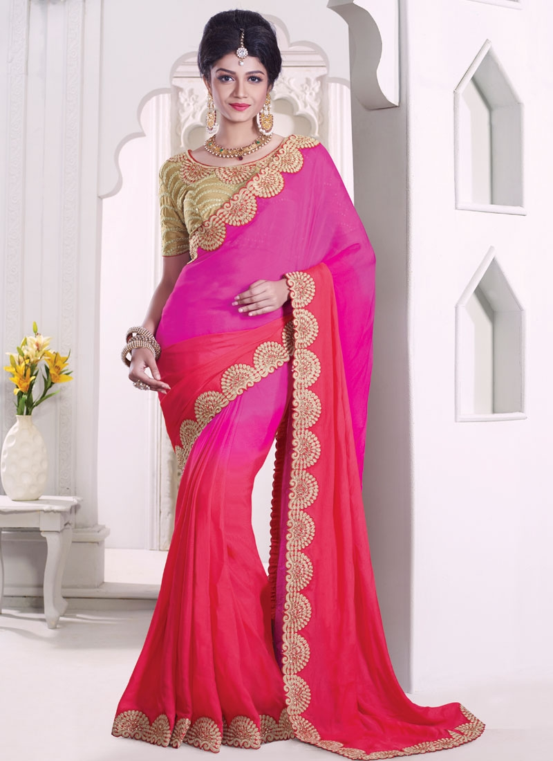 Renowned Stone Work Viscose Designer Saree