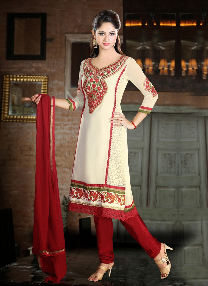 Resham And Stones Work Party Wear Salwar Kameez