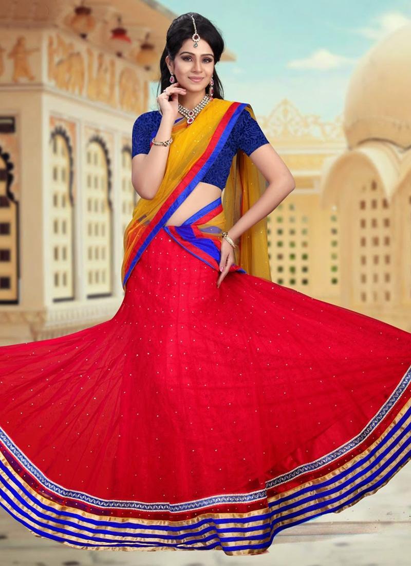 Resham Enhanced Net Party Wear Lehenga Choli