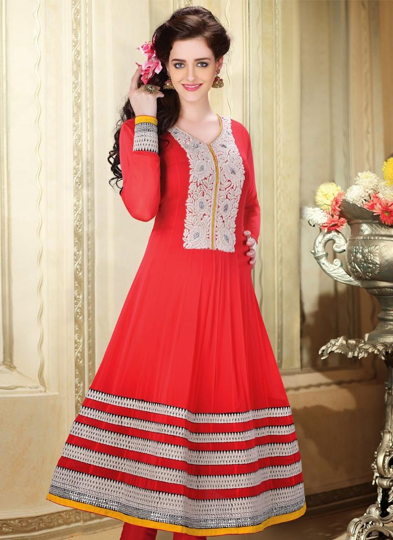 Resham Enhanced Readymade Anarkali Suit