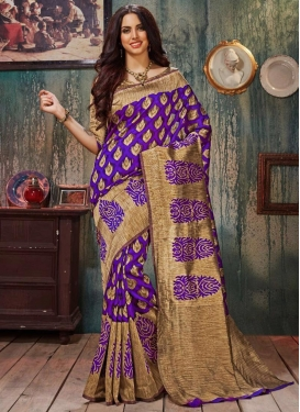 Resham Work Art Silk Classic Saree For Ceremonial