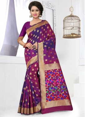 Resham Work Classic Saree For Ceremonial