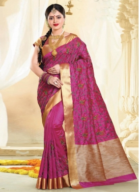Resham Work Contemporary Saree