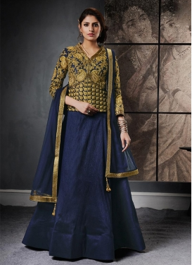 Resham Work Designer Long Choli Lehenga