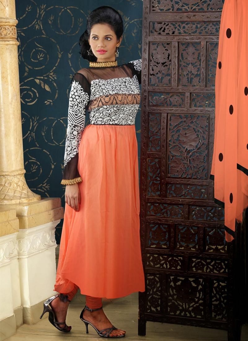 Resham Work Georgette Readymade Designer Suit