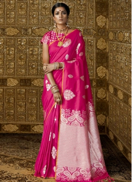 Resham Work Handloom Silk Trendy Classic Saree