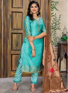 Resham Work Pant Style Classic Salwar Suit