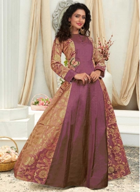 Resham Work Readymade Classic Gown