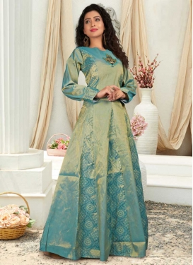 Resham Work Readymade Designer Gown