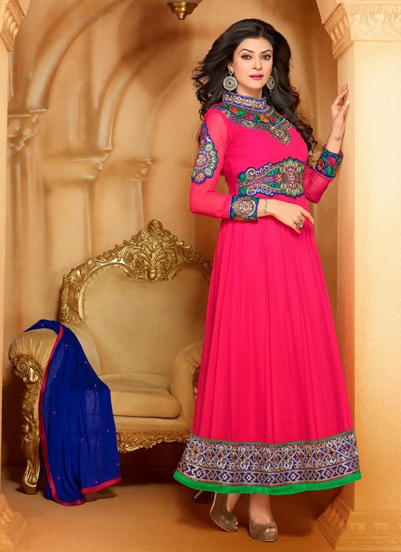 Resham Work Sushmita Sen Bollywood Salwar Suit