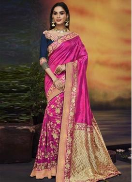 Resham Work Traditional Designer Saree