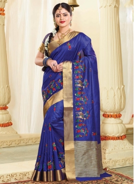 Resham Work Trendy Classic Saree