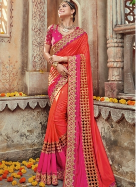 Resplendent Beads Work  Contemporary Saree For Ceremonial