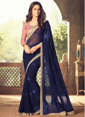 Resplendent Faux Georgette Traditional Designer Saree For Ceremonial