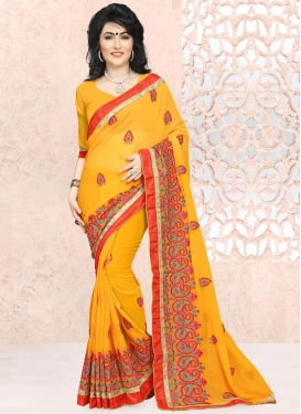 Resplendent  Faux Georgette Trendy Saree