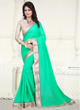 Resplendent Resham Work Casual Saree