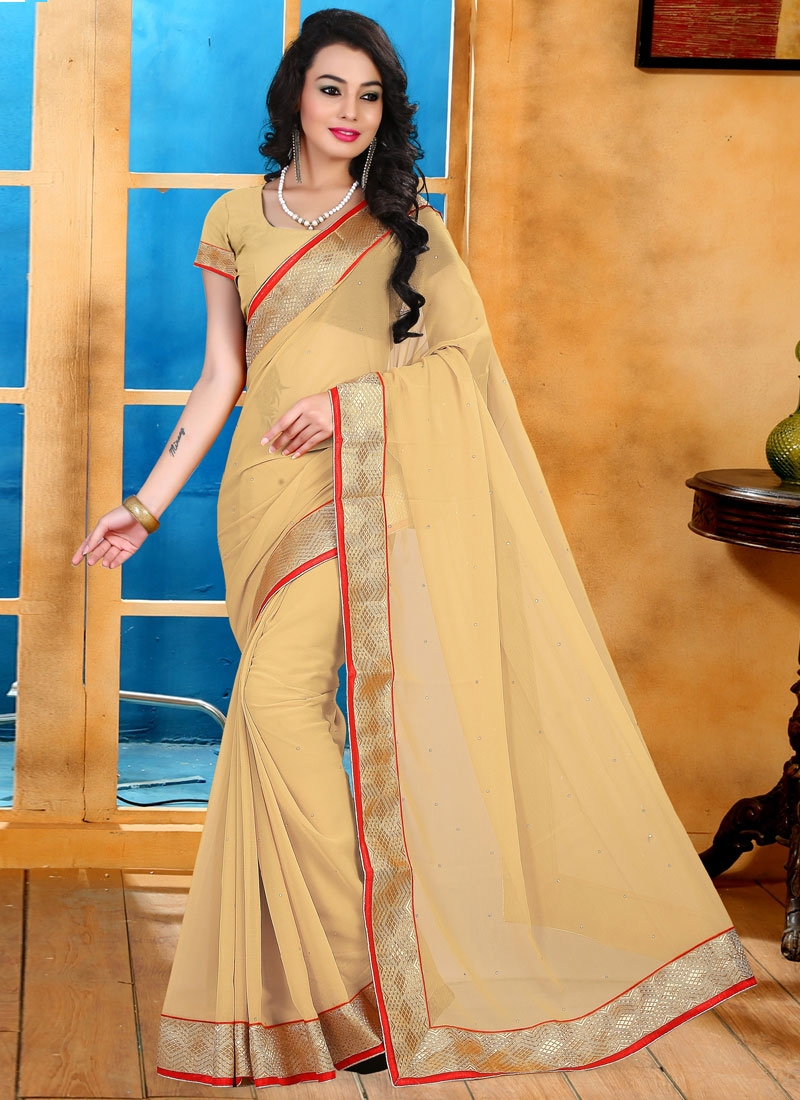 Resplendent Stone Work Casual Saree