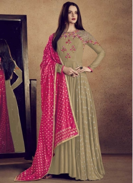 Reyon Readymade Designer Gown For Ceremonial