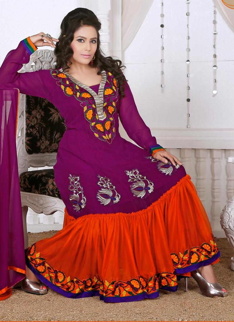 Riveting Karachi Work Readymade Churidar Suit