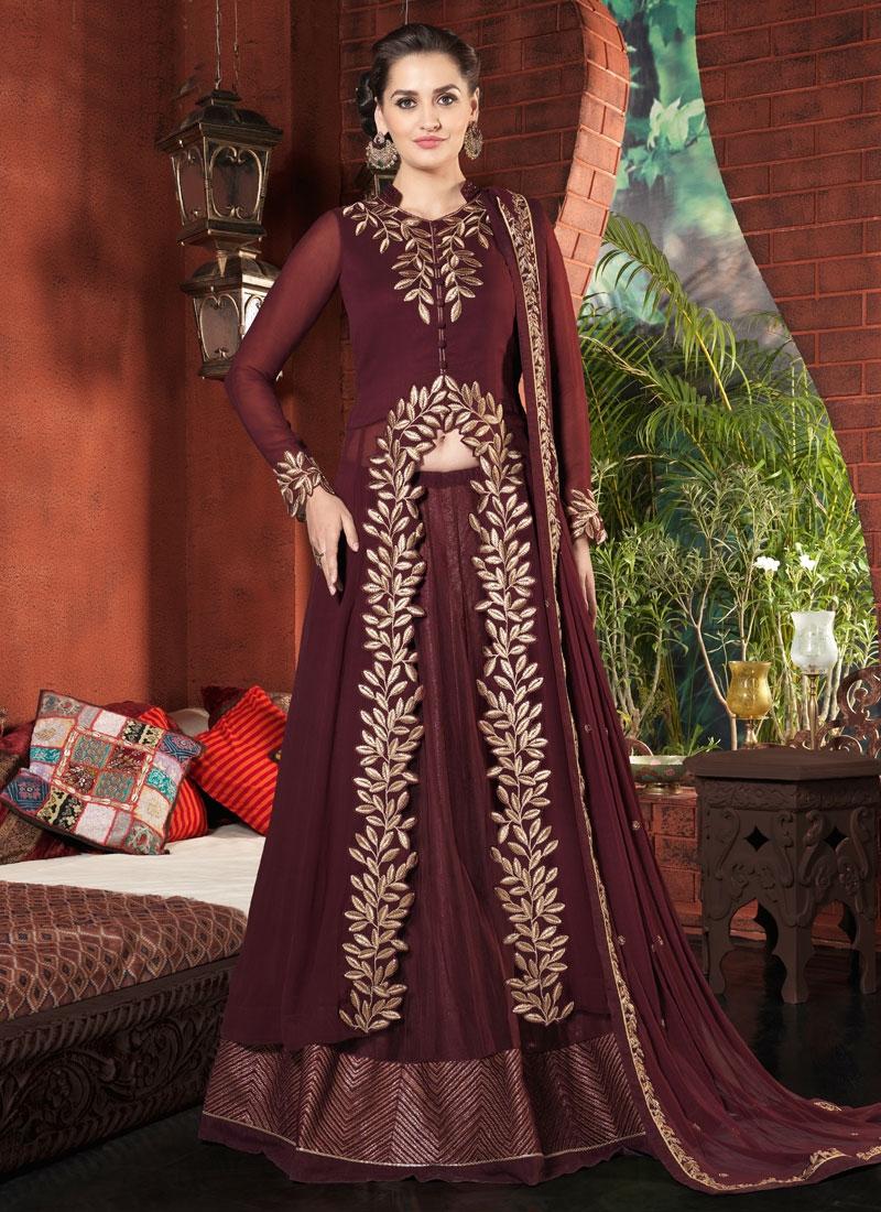 Riveting Pure Georgette Kameez Style Designer Lehenga Choli