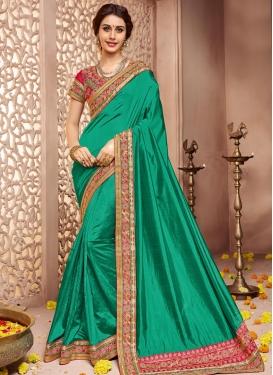 Riveting Raw Silk Classic Designer Saree