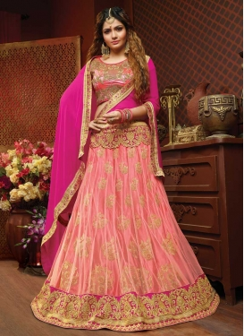 Rose Pink and Salmon Lehenga Choli For Bridal