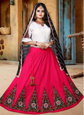 Rose Pink and White Designer Classic Lehenga Choli